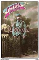 CPA Amities Du Front Soldat Poilu Patriotique Militaria Anglais Francais - Materiale