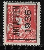 Antwerpen  1936  Typo Nr. 301A - Typo Precancels 1932-36 (Ceres And Mercurius)