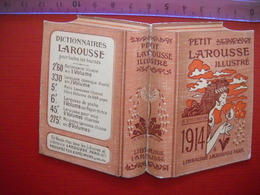 Calendrier Publicitaire Pour Le Petit Larousse Illustré  De 1914 . 2 Photos - Kalenders