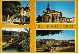 43 Saint St Paulien Vers Le Puy En Velay Château De Rochelambert Vue Générale Eglise VOIR DOS - Le Puy En Velay