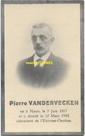 Soignies / Naast -  Vandervecken Pierre 1867/1942 - Décès