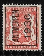 Antwerpen 1936  Typo Nr. 309A - Préoblitérés