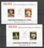WW884 !!! ONLY ONE IN STOCK BOLIVIA SPORTS FOOTBALL WORLD CUP 1974 MUNICH CACTUSSES MICHEL BL36,7 80 EURO MNH - Coppa Del Mondo