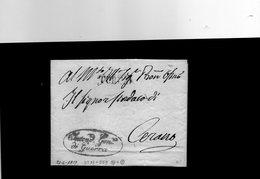 CG17 - Lett. Da Torino X Cerano 21/6/1817 - Bollo Stamp. Dir. Nero + Bollo Amm. Rosso Intendenza Gen. Di Guerra - Italie
