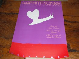 Affiche Spectacle Musical Amphitryonne Les Cyranoïaques Escargot Escargots Cœur Valletti - Other