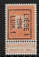 Luik 1914  Typo Nr. 48B - Precancels