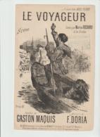 (MUSI2) LE VOYAGEUR , MARIUS RICHARD , Paroles GASTON MAQUIS , Musique F DORIA , Illustration NANTEUIL - Partitions Musicales Anciennes