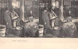 20-3227 : VUE STEREOSCOPIQUE. PARIS. LA HALLE AUX POISSONS. - Artisanry In Paris