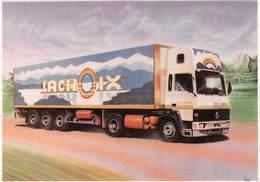 Bernard VEYRI - Carte Publicitaire Pour Les Transports Lacroix à Lons-le-Saunier - Camion Semi-Remorque Poids-Lourd - Veyri, Bernard