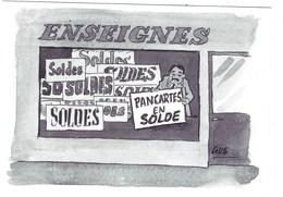 Carte Postale Illustrée Par Gus - - Autres Illustrateurs