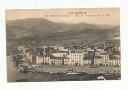 Cp , 66 , PORT VENDRES , Rue Du Commerce Et Le Quai , écrite 1925 - Port Vendres