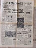 Journal L'Humanité (13 Août 1955) Maroc - Metallos St Nazaire - Picasso - Simca/Citroën - 1950 - Nu