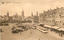 Ostende - Les Trams Place De La Gare - Oostende