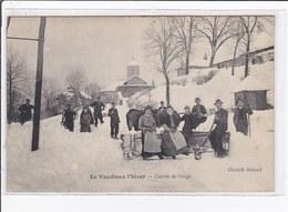 LE VAUDIOUX : Passage D'une Charrue à Neige - (chasse-neige - Corvée) - Très Bon état - Autres Communes