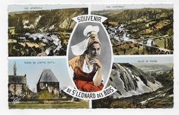 SAINT LEONARD DES BOIS - N° 1581 - MULTIVUES - FORMAT CPA COULEUR NON VOYAGEE - Saint Leonard Des Bois