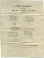 Ami Roger , Ode Au Champagne . Musique D'Etienne Merle . Imprimé à Avignon . - Vieux Papiers