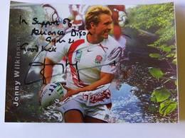Jonny WILKINSON - Signé / Hand Signed / Dédicace Authentique / Autographe - Rugby