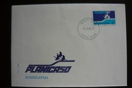 Yugoslavia, Slovenia, Ratece-Planica50, Ski Flies, Spec Postmark & Cover - Autres