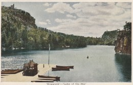 The Lake Mohonk Mountain House, Mohunk Lake, New York 'Moggunk'- 'Lake Of The Sky'  Glue On Back - Colle En Dos - NY - New York