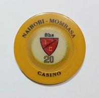 NAIROBI / MOMBASA - CASINO - CHIP / FICHE / TOKEN Da 20 SHILLINGS - Casino