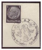Dt-Reich (007225) Sonderstempel Auf Briefstück, Graz, 1. Tagung Der Hopfenpflanzer Großdeutschlands, Gestempeltz Am 15.8 - Deutschland