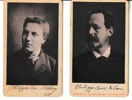 Philippe Duc D'Orléans Et Ph. Comte De Paris 2 Photographies Format Carte De Visite Chalot Photo. Rue Vivienne Paris - Old (before 1900)