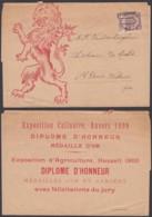 """BELGIQUE 2C """"BRUXELLES 04"""" SUR BANDE PUBL """"EXPOSITION CULINAIRE ANVERS 1899""""(DD) DC-7163 - Precancels"""