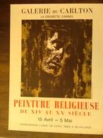 AFFICHE ANCIENNE ORIGINALE LITHOGRAPHIQUE PEINTURE RELIGIEUSE FALCUCCI 1965 CANNES GALERIE CARLTON LA CROISETTE - Posters