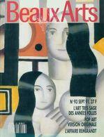 Beaux-Arts Magazine N°93 : L'art Très Sage Des Années Folles De Collectif (1991) - Livres, BD, Revues