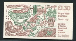 SALE  Great Britain 1988 Booklet MNH  Mushrooms - Paddestoelen