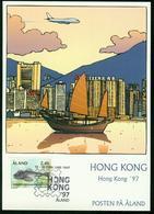 Er Aland Islands Exhibition Card | Hong Kong 97 (Hong Kong) Hong Kong 12.-16.2.1997 Special Cancel - Aland