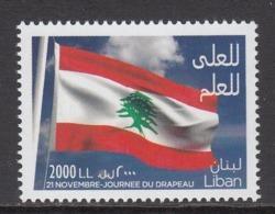 2015 Lebanon Liban Flag Day  Complete  Set Of 1 MNH - Libano