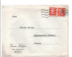 DANEMARK AFFRANCHISSEMENT COMPOSE SUR LETTRE POUR LA FRANCE 1947 - Briefe U. Dokumente