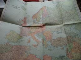 Carte D'Europe LAVA Europakaart : Scale 1 : 10.000.000 Miles / Printed In Switzerland KÜMMERLY & FREY Berne ! - Europe