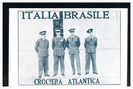 ITALIA - Cartolina Ricordo - CROCIERA ATLANTICA 1930  -  ITALIA-BRASILE - Flugzeuge