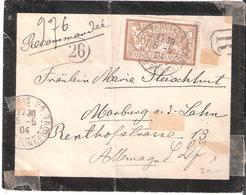 45c.Merson Obliitéré PARIS Sur Lettre Recommandée Pour L'Allemagne - Poststempel (Briefe)