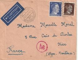 Allemagne-France,Nizza, Censure D'un  Soldat Francais En Allemagne,Leipzig, Betriebslager - Marcophilie (Lettres)