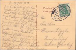 Bahnpost Metz-Gießen Zug 123 - 26.7.1914 Auf AK Weilburg / Lahn Schlosshof - Ohne Zuordnung