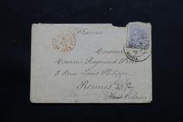 ESPAGNE - Enveloppe Pour La France En 1879, Affranchissement Plaisant - L 54577 - 1875-1882 Royaume: Alphonse XII