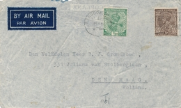 Burma - 1936 - 1,5 Anna On Crashmail Cover Imperial Airways SCIPIO In Crete - Explanation-sticker In French - Burma (...-1947)