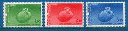 France - Timbre De Service - YT N° 85 à 87 - Conseil De L'Europe - Neuf Sans Charnière - 1985 - Service