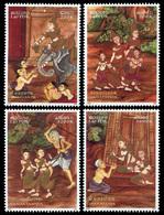 252 - Laos 2001  YT 1435-38 ; Mi# 1797-1800 **  MNH  Vessantara - Laos