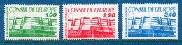 France - Timbre De Service - YT N° 93 à 95 - Conseil De L'Europe - Neuf Sans Charnière - 1986 - Ungebraucht