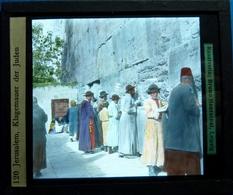 JERUSALEM , KLAGEMAUER DER JUDEN - ISRAËL - Glasdias