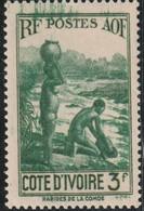COTE D'IVOIRE 1936-38  N° 129* - Unused Stamps