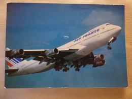 AIRLINE ISSUE / CARTE COMPAGNIE       AIR FRANCE  B 747 - 1946-....: Era Moderna