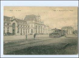 XX008860/ Mons La Gare Bahnhof Straßenbahn AK Belgien 1915 - Non Classificati