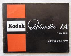 Notice D'emploi Appareil Photo Kodak Rétinette IA Camera - 1960s - Matériel & Accessoires