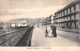 "6670 "" REGGIO CALABRIA-VIA MARINA "" ANIMATA- CART. POST ORIG.  SPEDITA 1908 - Reggio Calabria"