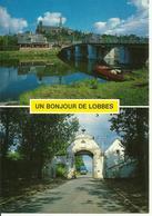 Un Bonjour De Lobbes -- Coin De La Sambre - La Portelette.   (2 Scans) - Lobbes